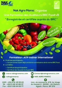 formation des auditeurs BRC food Version 8